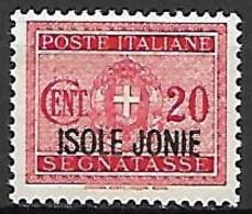 IONIENNES   -  ISOLE JONIE  -    1941 .  Y&T N° 10 *. - Isole Jonie
