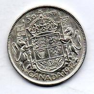 CANADA, 50 Cents, Silver, Year 1942, KM #36 - Canada