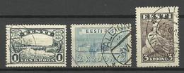Estland Estonia 1933-1940 Kroon-Währungen (1,2,3 Kroon) O - Estonie