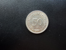 RÉPUBLIQUE FÉDÉRALE ALLEMANDE * : 50 PFENNIG   1966 D     KM 109.1      SUP - 50 Pfennig