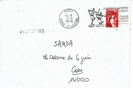 """1978 - Oblitération SECAP """"PARIS-GARE St LAZARE""""  JEUNESSE SPORT ET LOISIRS - Brevet Sportif Populaire - Marcophilie (Lettres)"""