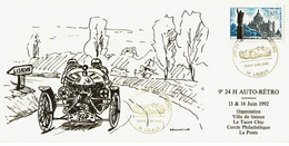 1992 - Lisieux - 9eme 24h AUTO-RETRO - Oblitération Temporaire - Voir Verso - Cachets Commémoratifs