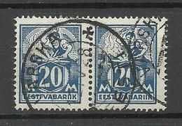 ESTLAND Estonia 1925 O VÄRSKA Michel 59 As Pair - Estonie