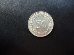 RÉPUBLIQUE FÉDÉRALE ALLEMANDE * : 50 PFENNIG   1966 F     KM 109.1      SUP - 50 Pfennig