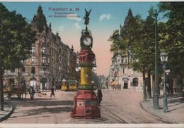 Frankfurt Main - Kaiserstrasse Mit Manskopf-Uhrturm - Ca. 1920 - Frankfurt A. Main