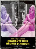 Aff Ciné Orig Neuve 48 HEURES D'AMOUR Cecil SAINT-LAURENT 1968 80X60 J P MARIELLE - Affiches & Posters