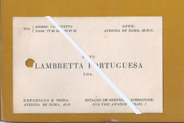 Rare Card Of The 'Moto Lambretta Portuguesa' From Lisbon 1952. Rara Carta Della 'Moto Lambretta Portuguesa' Di Lisbona. - Tarjetas De Visita