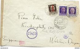150 - 16 - Enveloppe Envoyée De Firenze En Suisse 1944 - Censure - WO2