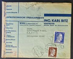 Deutsches Reich OSTMARK 1944, Zensur-Bedarfsbrief WIEN Gelaufen Basel/Schweiz - Allemagne