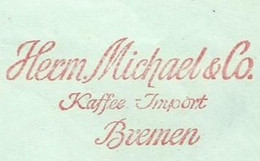 EMA METER STAMP FREISTEMPEL HERM MICHAEL KAFFEE IMPORT CAFFE COOFEE BREMEN 1964 - Autres