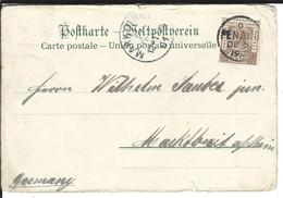Straits Settlements SG 97 Penang 2.12.1900 To Marktbreit DE - Straits Settlements