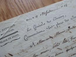 GENERAL Empire GUIOT DUREPAIRE (1755-1819) Commandant BREST. Espagne. Vendée. AUTOGRAPHE - Autografi