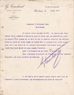 BORDEAUX TOUCHARD CAFES POIVRES LETTRE ANNEE 1901 A MR BONDOUMET A MONTREJEAU - Frankreich