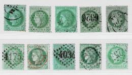 A4b- Nuances Différentes Tous Sans Défaut. - 1871-1875 Ceres