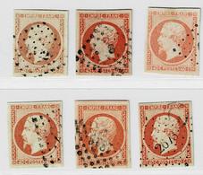 A4b- 6 Nuances Différentes Tous Sans Défaut. - 1853-1860 Napoleon III