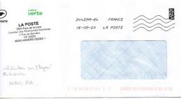 Anomalie OMEC Toshiba Sur 2 Lignes Maine Et Loire Angers PPDC Code ROC 24429A + Cachet De Service De La DEX à Angers - Maschinenstempel (Sonstige)