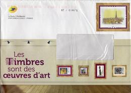 """Entier Postal Spécial Pour Catalogue PHIL@POSTE - Repiquage Par Philaposte Timbre """" Vue Sur Paris, Tour Eiffel """" Sans N° - PAP : Su Commissione Privata TSC E Sovrastampe Semi-ufficiali"""