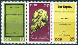 DDR - Mi 1365 A / 1367 A = WZd 195 - ** Postfrisch (A) - Karl Marx - Nuovi