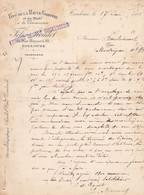 TOULOUSE FELIX ROUDET VINS DE LA HAUTE GARONNE ET DU MIDI LETTRE ANNEE 1901 A MR BONDOUMET A MONTREJEAU - Frankreich