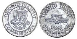 05348b GETTONE JETON TOKEN CANADA TRASPORTI TORONTO TRANSIT COMMISSION 1954 - Tokens & Medals