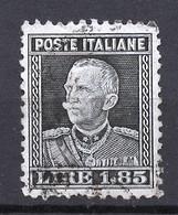 Italie - Italy - Italien 1927 Y&T N°201 - Michel N°265 (o) - 1,85l Victor Emmanuel III - Usati
