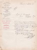 PARIS BLONDEL HINCELIN ALCOOLS METHYLENES VERNIS A L ACOOL ANNEE 1901 A MR BONDOUMET NEGOCIAN EPICIER A MONTREJEAU - Frankreich