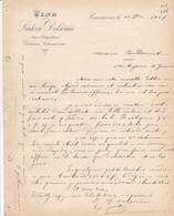CARCASSONNE LUDOVIC DELSERIES VINS LETTRE ANNEE 1901 A MR BONDOUMET NEGOCIAN EPICIER A MONTREJEAU - Frankreich
