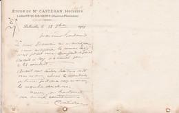 LABARTHE DE NESTE ETUDE DE ME CASTERAN LETTRE ANNEE 1901 A MR BONDOUMET NEGOCIAN EPICIER A MONTREJEAU - Frankreich