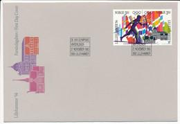 Mi 1139-40 FDC / Winter Olympics Lillehammer '94 - 27 November 1993 - FDC