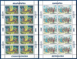 GEORGIA 1998 EUROPA CEPT MI. 296 /7 YV. 221 /2 KLEINBOGEN SHEETLETS FEUILLES MNH** - Georgia