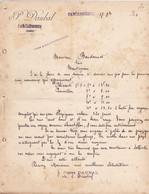 CARCASSONNE ST PONS P DAUBAL VINS A LA COMMISSION LETTRE ANNEE 1901 A MR BONDOUMET NEGOCIAN EPICIER A MONTREJEAU - Frankreich