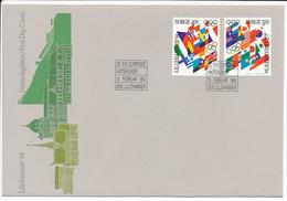 Mi 1145-50, 2x FDC's / Winter Olympics Lillehammer '94 - 12 February 1994 - FDC