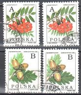 Poland 1995 - Deciduous Trees- Mi 3549-50 X,y - Used Gestempelt - Usados