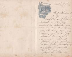 LUCHON ETABLISSEMENT THERMAL CASINO LETTRE ANNEE 1901 A MR BONDOUMET NEGOCIAN EPICIER A MONTREJEAU - Frankreich