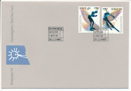 Mi 1152-53 FDC / Winter Paralympics Lillehammer '94 - 10 March 1994 - FDC