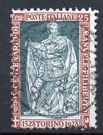 Italie - Italy - Italien 1928 Y&T N°214 - Michel N°286 (o) - 25c Emmanuel Philibert De Savoie - Usati