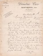 SAINT MARCEL GARE MARCORIGNAN DEMETRIE CROS VINS A LA PROPRIETE ANNEE 1901 A MR BONDOUMET NEGOCIAN EPICIER A MONTREJEAU - Frankreich