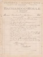 MONEIN BACHARDOU MOULE MERCERIE BONNETTERIE GILETS DE CHASSE  ANNEE 1901 A MR BONDOUMET NEGOCIAN EPICIER A MONTREJEAU - Frankreich