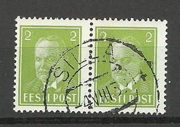 ESTLAND Estonia 1939 O SILLA Michel 114 As Pair - Estonie