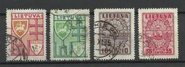 LITAUEN Lithuania 1934/35 Michel 394 - 396 & 398 O - Lithuania
