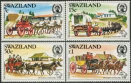 SWAZILAND 1984 19th Congress Of UPU Universal Postal Union Horses Donkeys Animals Fauna MNH - Pferde