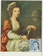 Carte-Maximum SUISSE N°Yvert 1350 (Angelica KAUFFMANN) Obl Sp Ill 1990 RR - Maximumkarten (MC)
