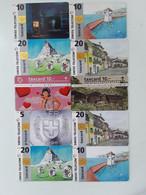 = SWITZERLAND - 10 DIFFERENT PHONECARDS  = LOT NR. 106X2 - Phonecards