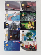 = SWITZERLAND - 10 DIFFERENT PHONECARDS  = LOT NR. 109X1 - Phonecards