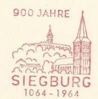 EMA METER STAMP FREISTEMPEL SIEGBURG 1964 900 JAHRE LANDSCAPE ARCHITECTURE - Other