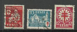 Estland Estonia 1933 Michel 102 - 104 O - Estonie