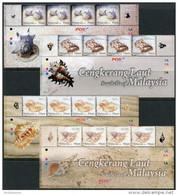 Malaysia 2008. Michel #1592/95 MNH/Luxe. Animals. Seashells. (B45) - Malaysia (1964-...)