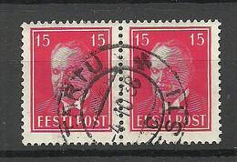 Estland Estonia 1937 Michel 125 As Pair O Tartu - Estonie