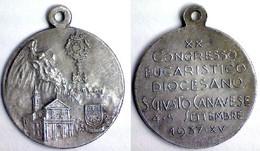 04363 MEDAGLIA COMMEMORATIVA XX CONGRESSO EUCARISTICO DIOCESANO  SAN GIUSTO CANAVESE 4-5 SETTEMBRE 1937 - XV - Italy
