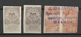 ESTLAND Estonia O 1919 Revenues Mint & Used - Estonie